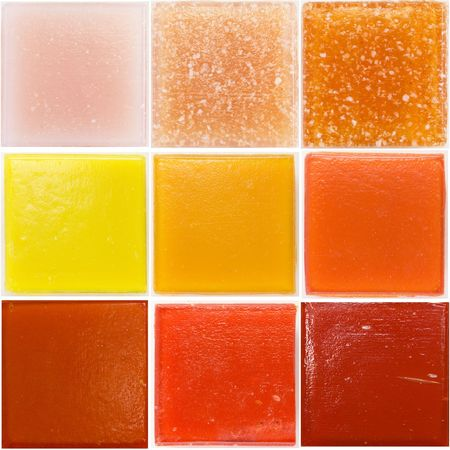 palette of a glass tiles photo