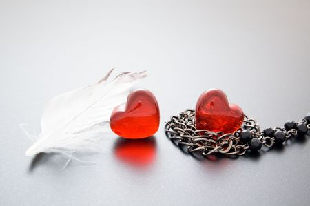 hearts, feather & fetters photo