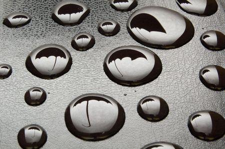 umbrella in drops photo