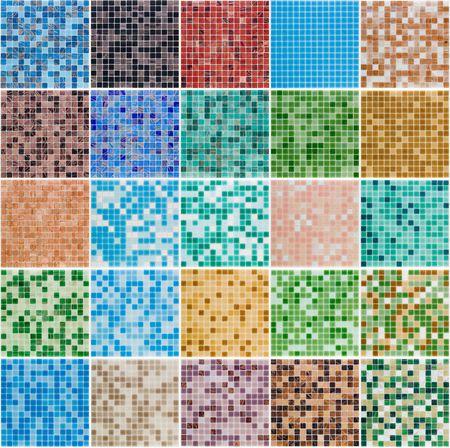 pool halls: floor interior color glass tiles