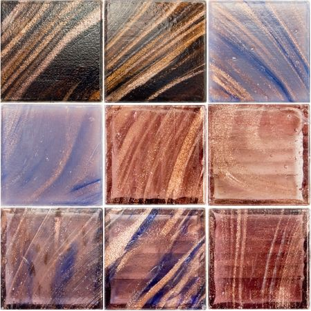 palette of a rich glass tiles photo