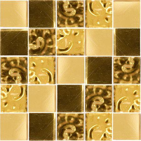 golden inter glass tiles Stock Photo - 2997540