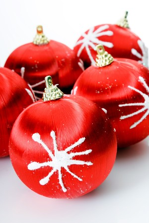 Red christmas balls Stock Photo - 4300450