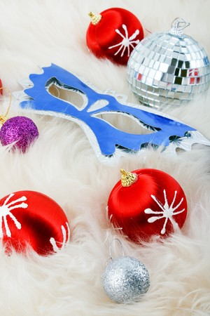 Red christmas balls Stock Photo - 4300435