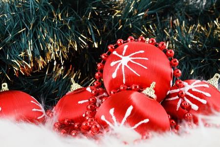 Red christmas balls Stock Photo - 4300433