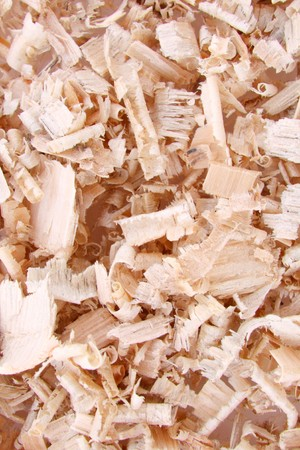 Close-up natural sawdust texture to background Stock Photo - 4294272