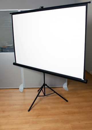 Projection screen in the boardroom photo