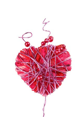 adorn: Heart isolated on white background