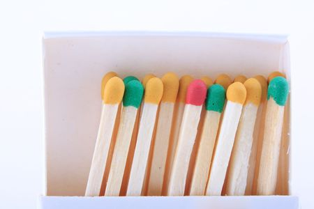 group of colored matches sticks Stock Photo - 4730353