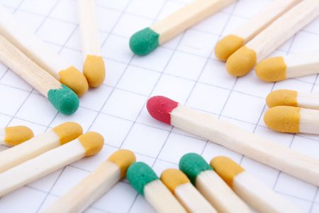 group of colored matches sticks Stock Photo - 4730279
