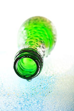wet green bottle macro Stock Photo - 4730306