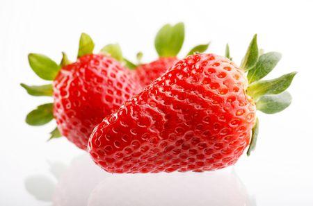 Fresh and tasty strawberries photo