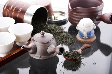 Traditional tea ceremony accessories(Japan) Stock Photo - 4865682