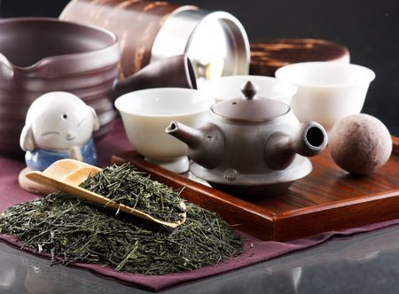 Traditional tea ceremony accessories(Japan) Stock Photo - 4865741