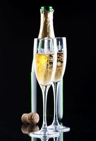 Champagne in glasses photo