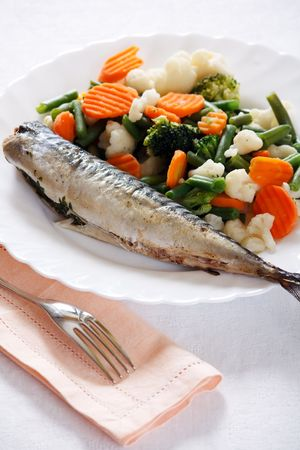 Grill Fish with Vegetables photo