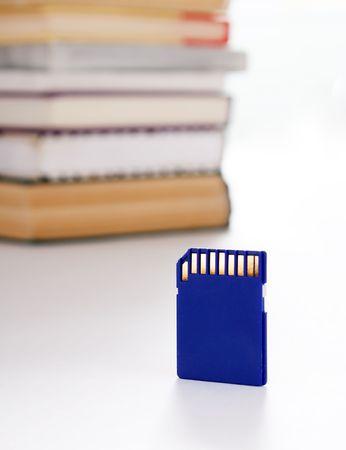 Data storage and books photo