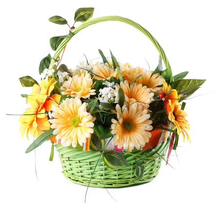 yellow gerbera isolated on: beautiful bouquet