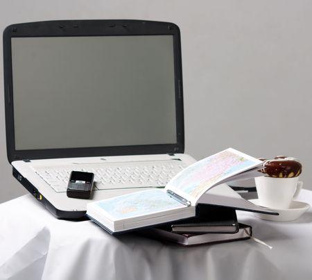 Home office setup photo