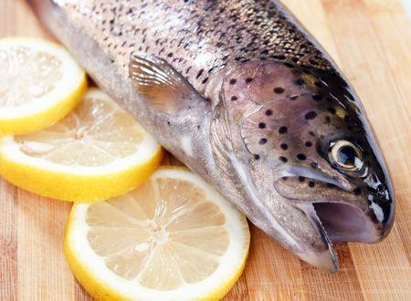 Trout fish lemon photo