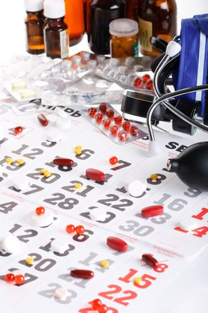 depressant: Planning of reception of tablets on basis of a calendar