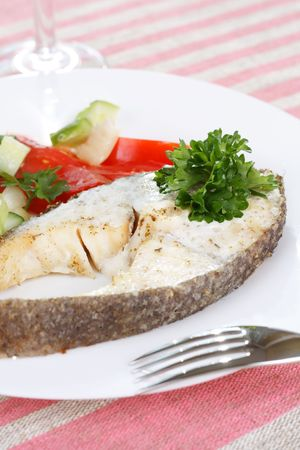 Fish with vegetables  photo