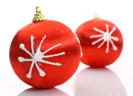Red christmas balls Stock Photo - 5663859