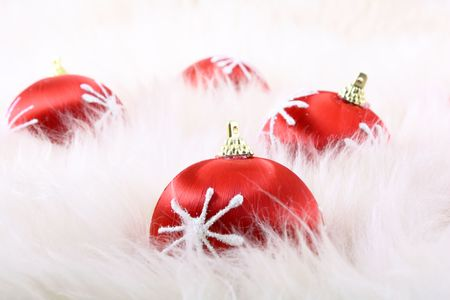 Red christmas balls Stock Photo - 5663854