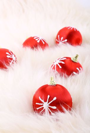 Red christmas balls Stock Photo - 5663815