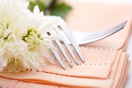 formal place setting: Napkin on wedding table