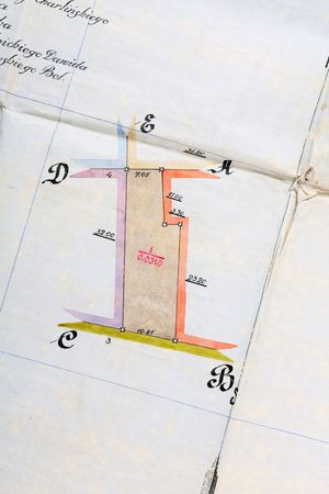 old house plan  photo