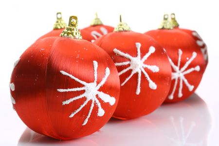 Red christmas balls Stock Photo - 5699455