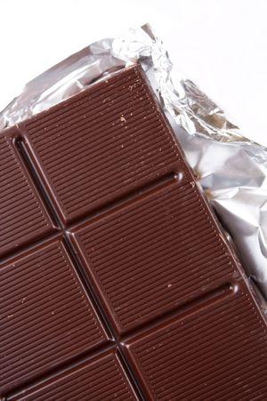 chocolate on a foil  photo
