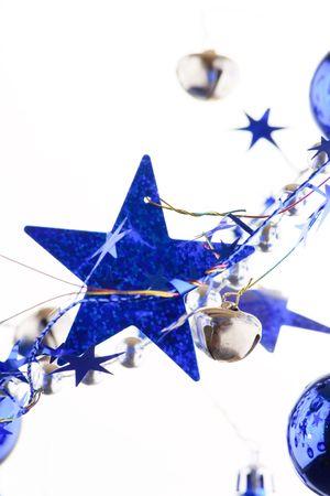 Christmas blue stars  photo