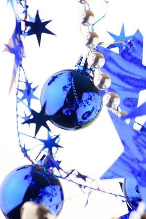 Christmas blue balls  photo