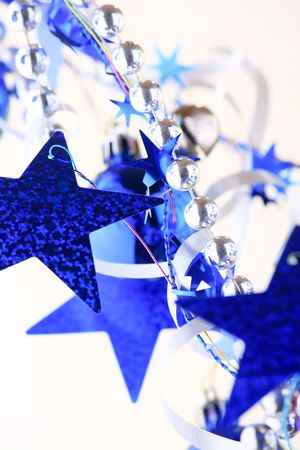 Christmas blue stars