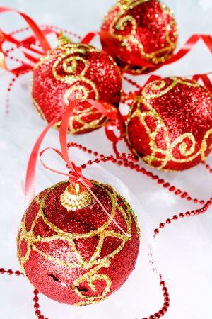 Red Christmas balls Stock Photo - 5882612