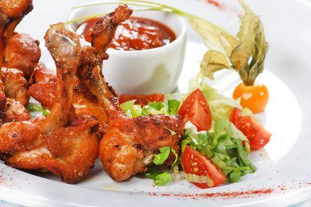 grilled chicken legs photo