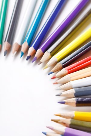 Color pencils on white background Stock Photo - 6330467