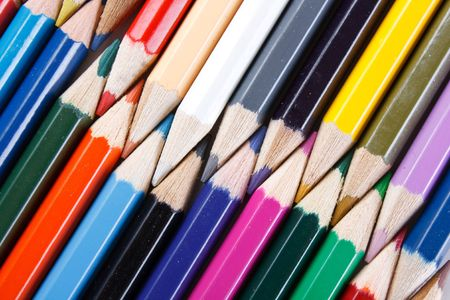 Color pencils on white background Stock Photo - 6330722
