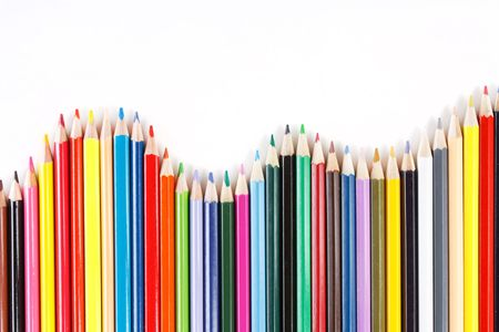 Color pencils on white background Stock Photo - 6330733