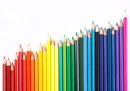 Color pencils on white background Stock Photo - 6330634