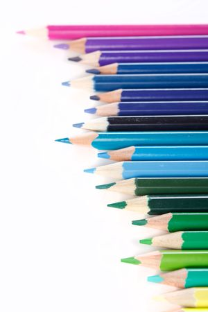 Color pencils on white background Stock Photo - 6330630