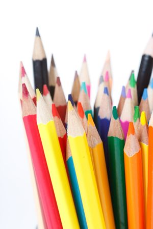 Color pencils on white background Stock Photo - 6330432