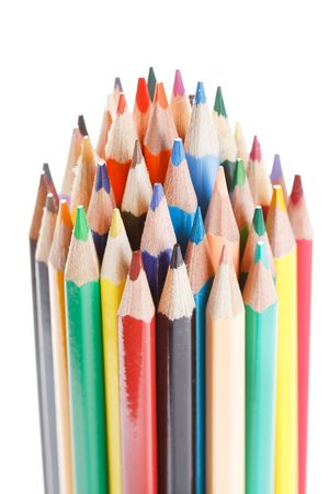Color pencils on white background Stock Photo - 6330447