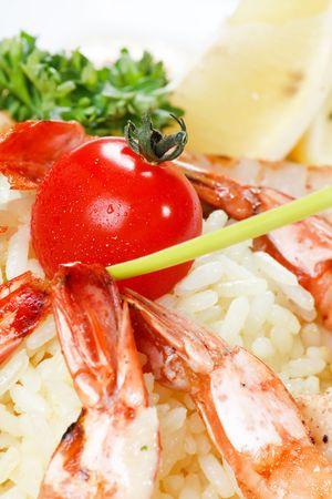 ing: ing tiger prawn shrimp with rice