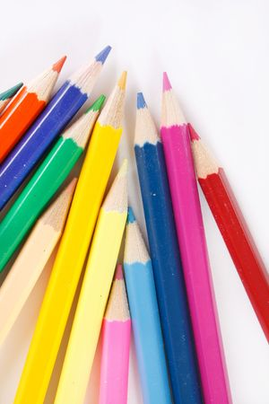 Color pencils on white background Stock Photo - 6330739