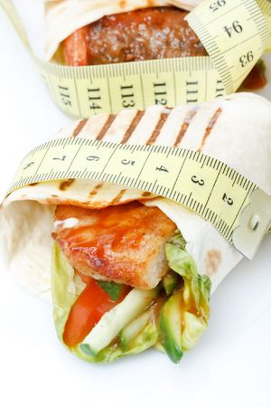 Tortilla wrap with tape measure  photo