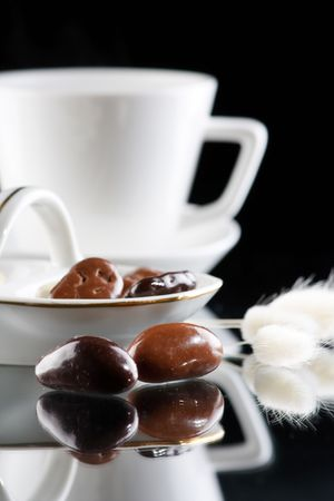 coffee and chocolate drops Stock Photo - 6331241