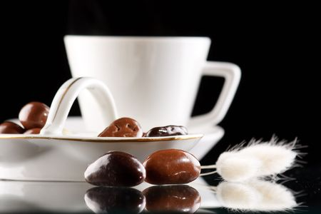 coffee and chocolate drops Stock Photo - 6331240